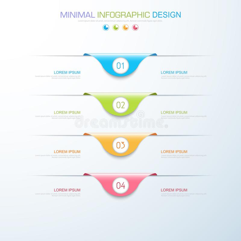 Infographic Elements with business icon on full color background process or steps and options workflow diagrams,vector design. Element eps10 illustration vector illustration