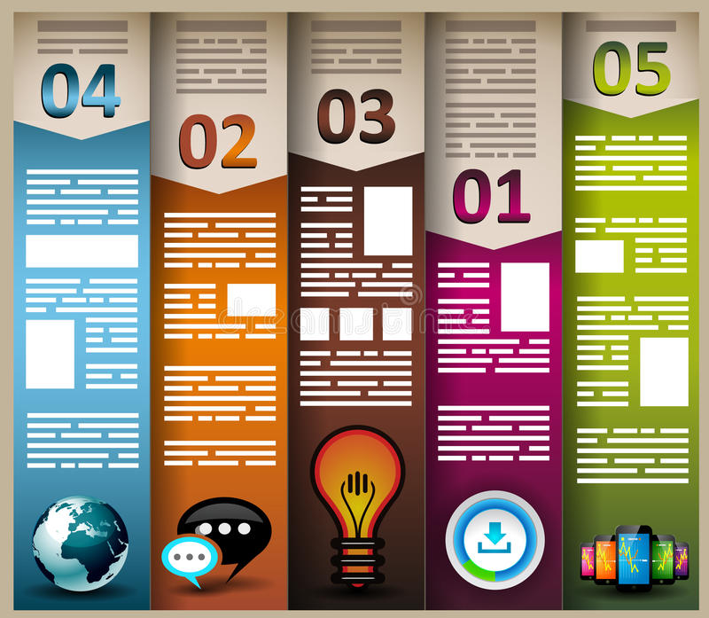 Infographic elements - Cloud and Technology royalty free illustration
