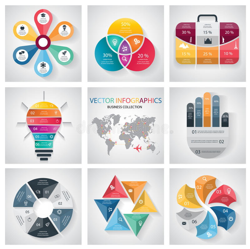 Infographic Elements and Communication Concept collection. Vector stock illustration