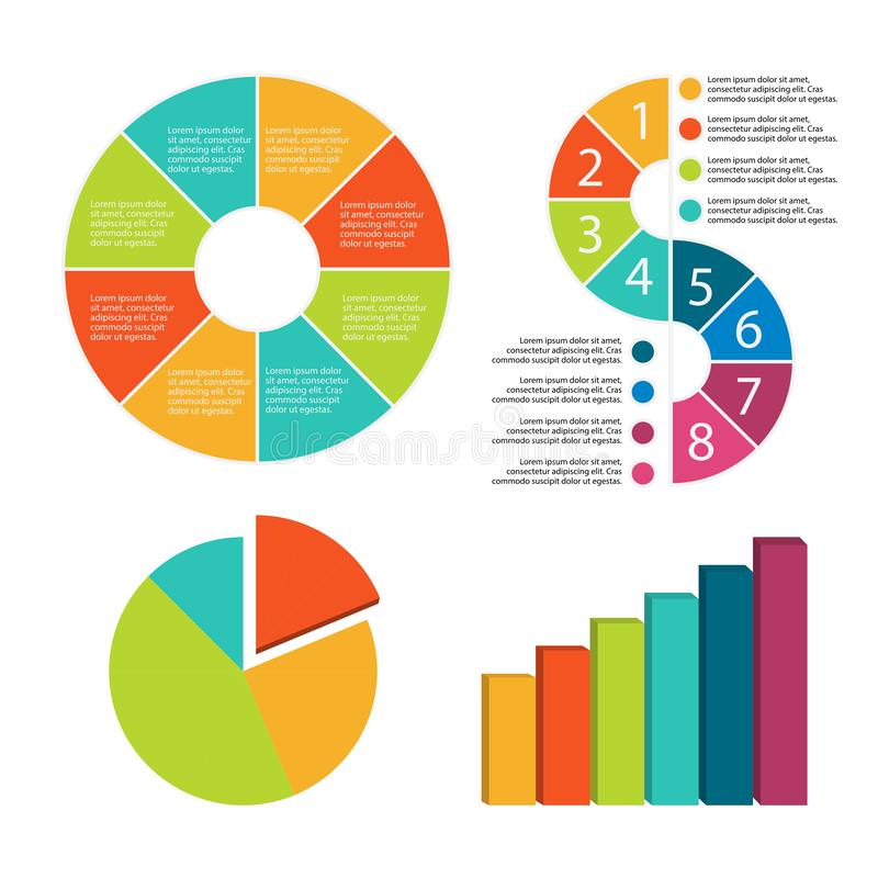 Infographic Elements decorated in different colors. vector illustration
