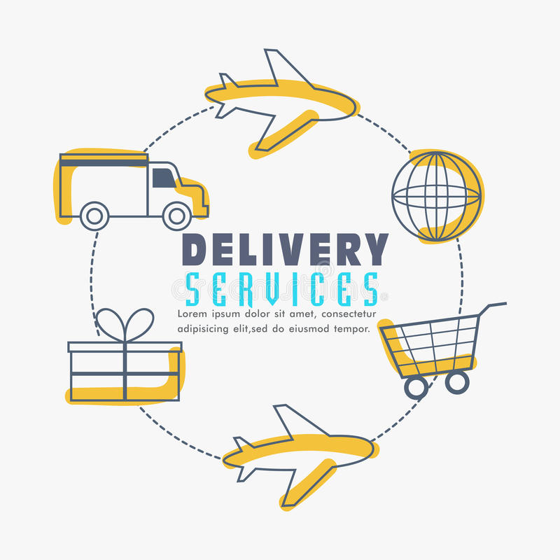 Infographic elements for Delivery Services. royalty free illustration