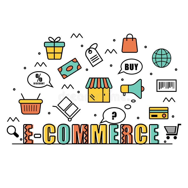 Infographic elements for E-commerce Business. Colorful creative Infographic elements for Online E-Commerce Business concept vector illustration
