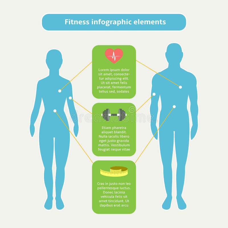 Infographic elements for fitness and sports vector illustration