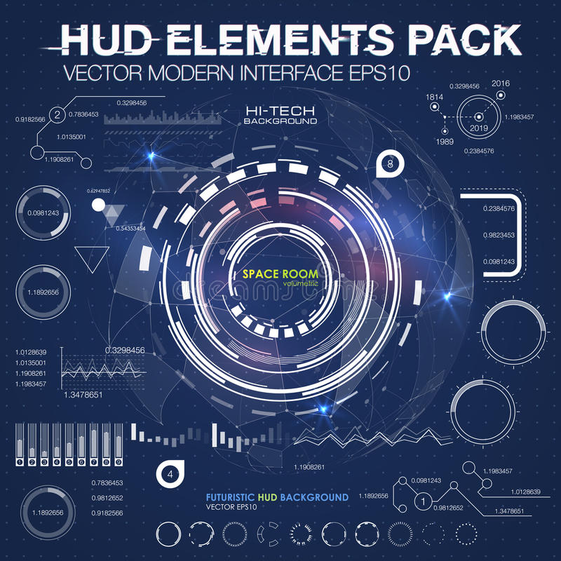 Infographic elements. futuristic user interface HUD UI UX. Abstract background with connecting dots and lines. Connection structure. Vector science background royalty free illustration