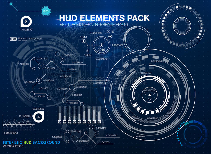 Infographic elements. futuristic user interface HUD UI UX. Abstract background with connecting dots and lines. Connection structure. Vector science background vector illustration