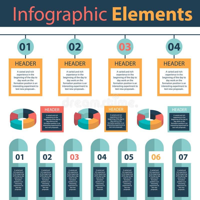 Infographic elements Marketing analytics pie charts stock image