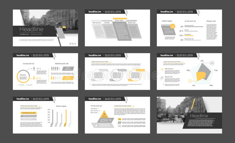 Powerpoint presentation template background. royalty free illustration