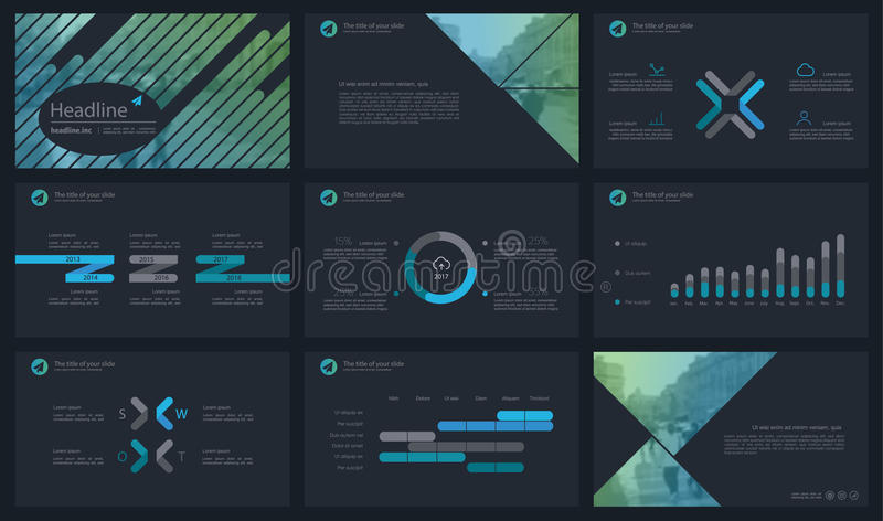 Powerpoint presentation template background. Use in presentation templates, flyer and leaflet, corporate report, marketing, advertising, annual report and stock illustration