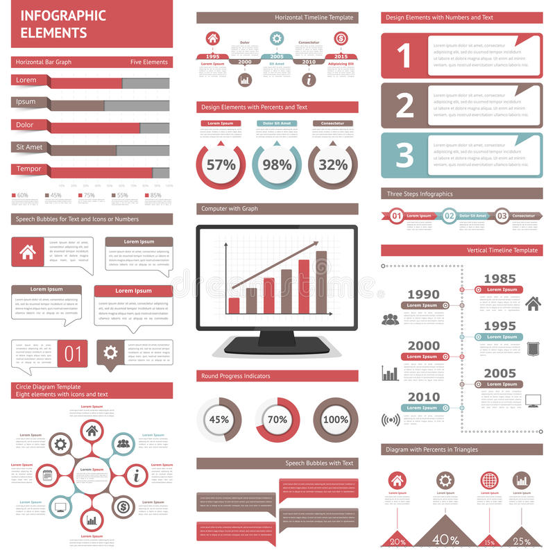 Infographic Elements. For presentations and reports royalty free illustration