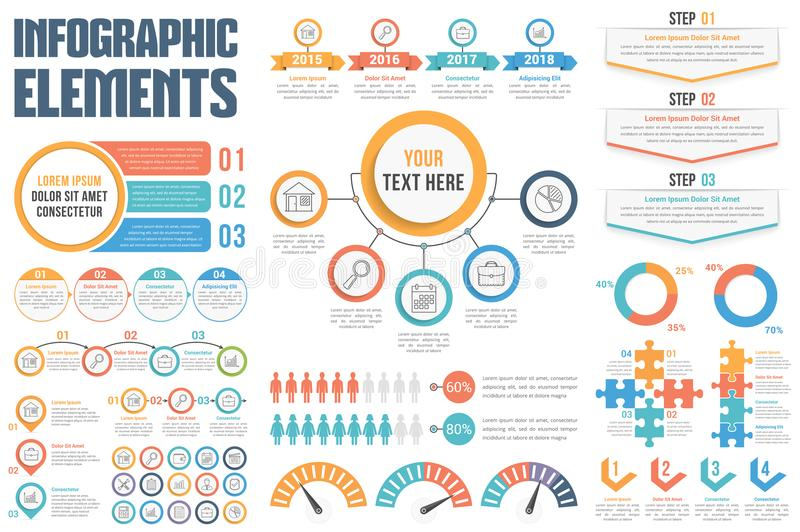 Infographic Elements. Set of different infographic elements vector illustration