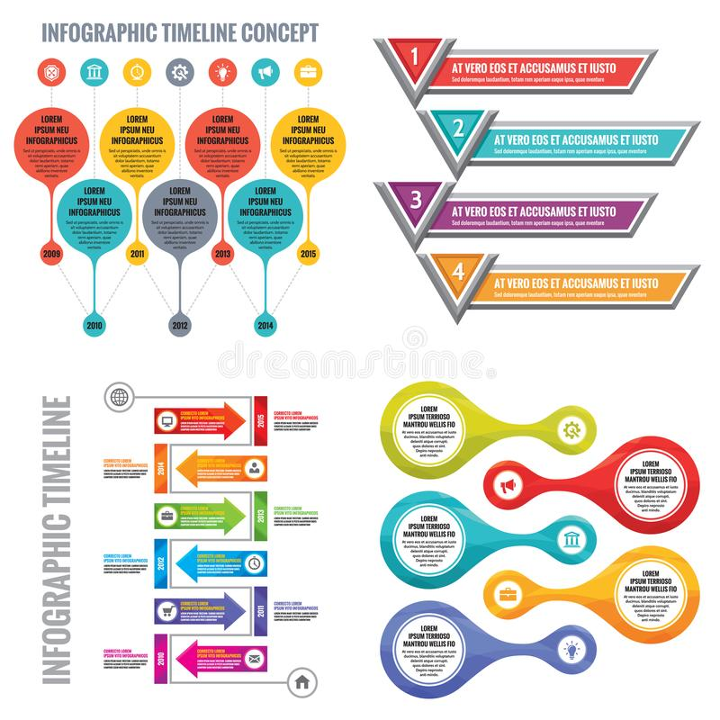 infographic elements template business concept banners for