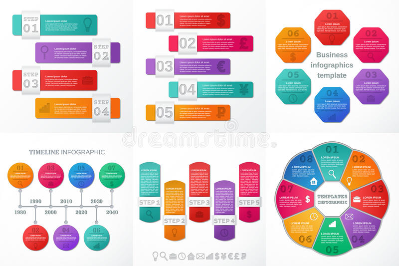 Infographic elements for text and brochure. Vector illustration. vector illustration