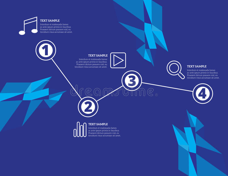 Infographic elements web icons easy to place on all surfaces royalty free illustration