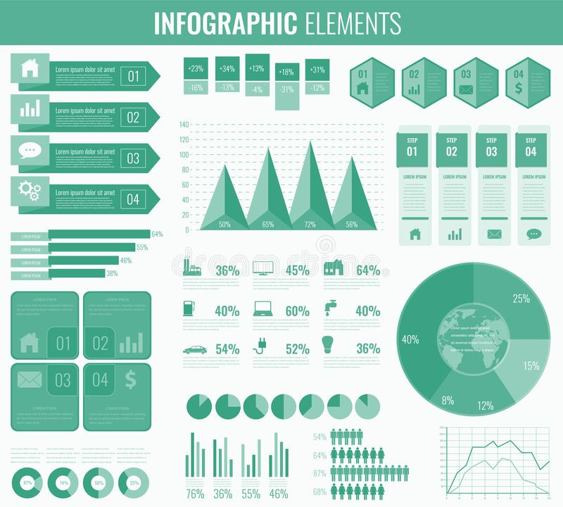 Infographic elements with world map and charts vector stock vector download infographic elements with world map and charts vector stock vector illustration of design gumiabroncs Gallery