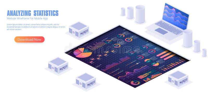 infographic elementu wektor Ilustracja dane pieniężni wykresy diagramy lub, ilustracja wektor
