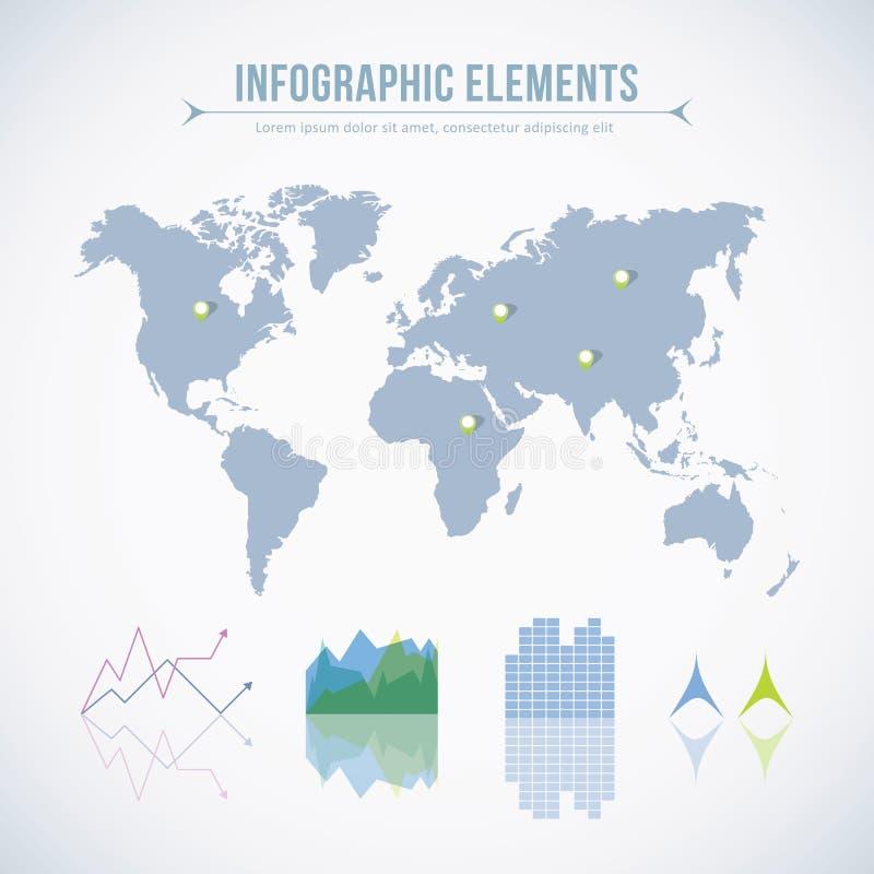 Infographic elementy ilustracja wektor