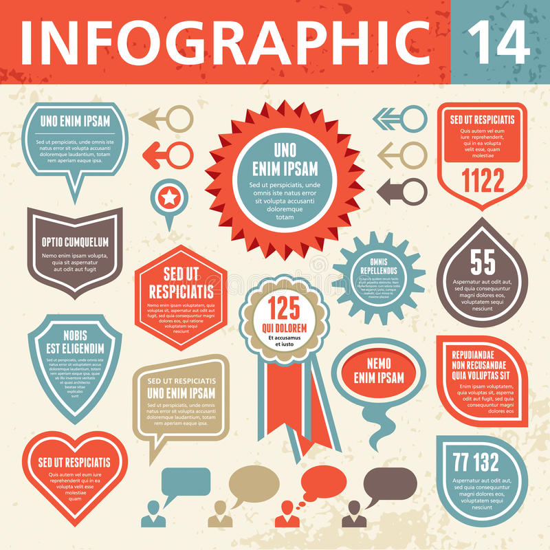 Infographic elementy 14 ilustracji