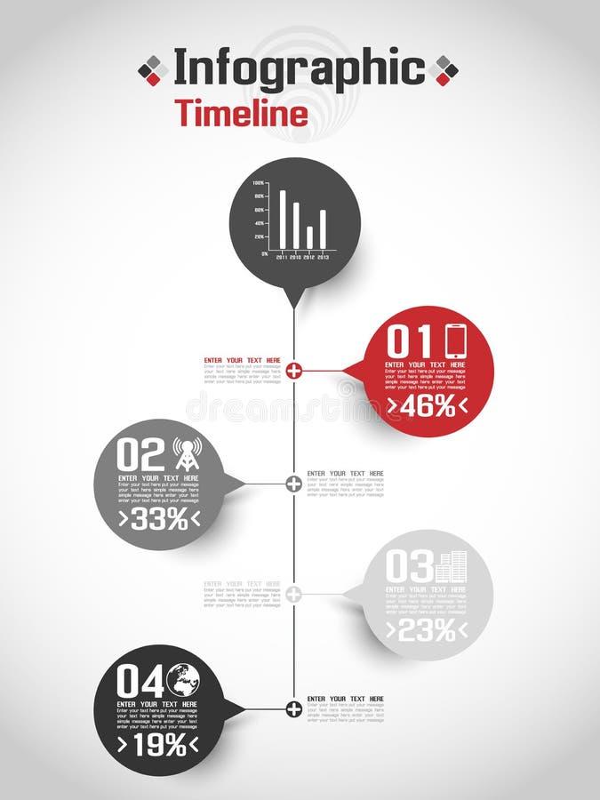 Infographic-Elementzeitachsediagramm und -graphik vektor abbildung