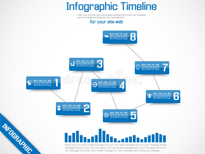 Infographic-Elementzeitachsediagramm und -graphik lizenzfreie abbildung