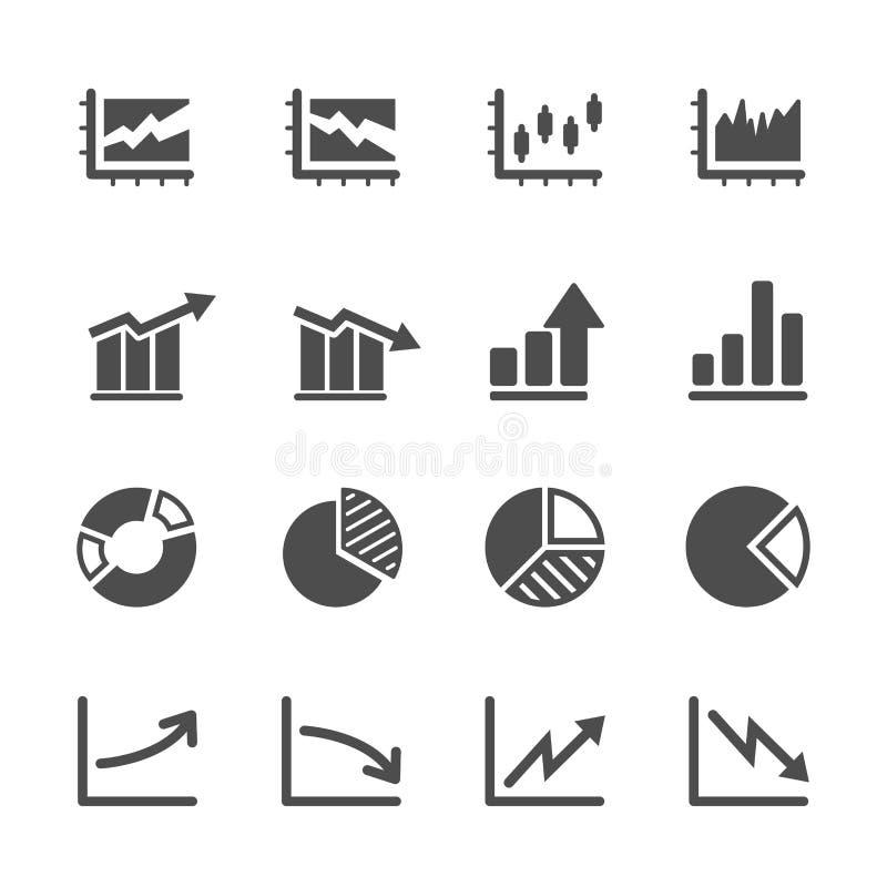 Infographic en grafiek het pictogram plaatste 5, eps10 vector illustratie