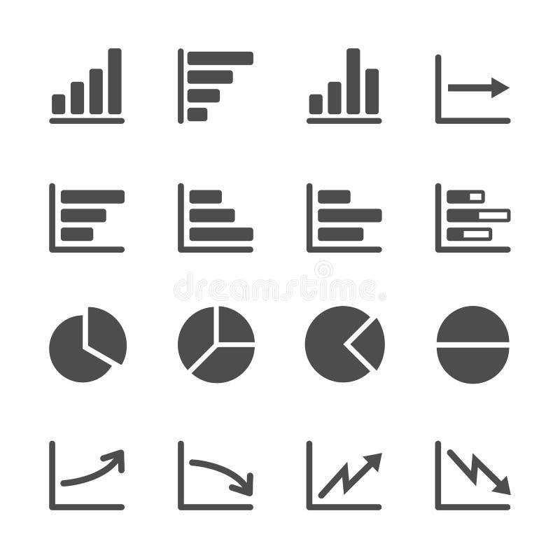 Infographic en grafiek het pictogram plaatste 3, vectoreps10 stock illustratie
