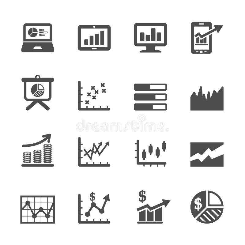Infographic en grafiek het pictogram plaatste 6, vectoreps10 royalty-vrije illustratie