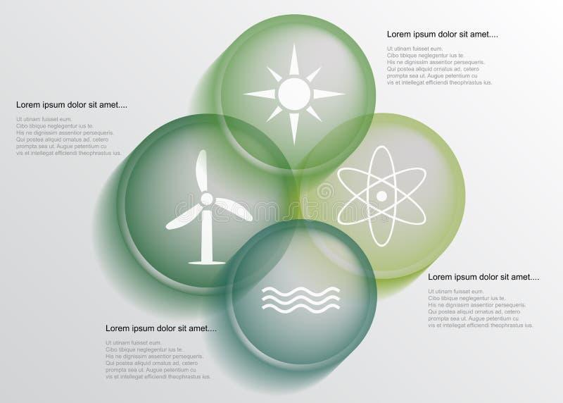 Infographic energie stock illustratie