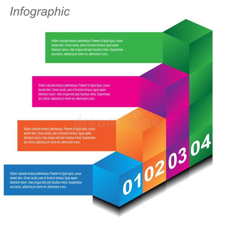 Infographic-Entwurfsschablone mit Papierumbauten vektor abbildung