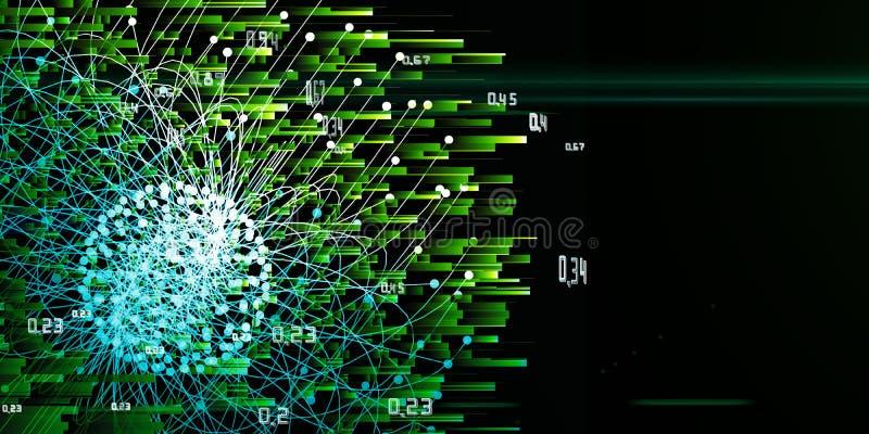 Infographic esférico del análisis del extracto con los puntos Concepto grande de los datos ilustración del vector