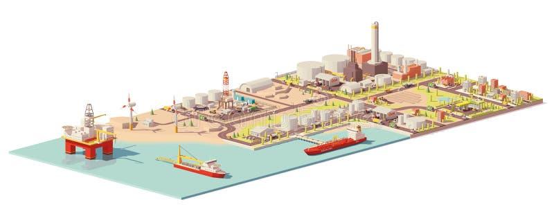 Infographic extraktion och förbrukning för vektor olje- stock illustrationer
