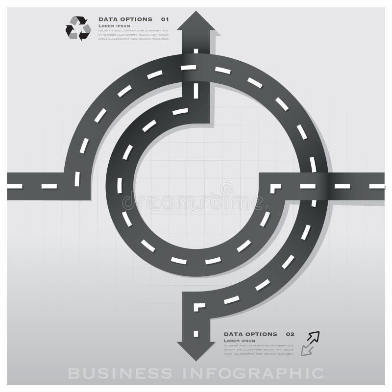 Infographic för affär för väg- och gatatrafiktecken design Templat royaltyfri illustrationer