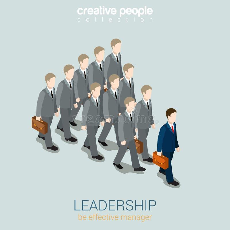 Infographic för rengöringsduk för ledarskapaffärsidélägenhet 3d isometriskt stock illustrationer