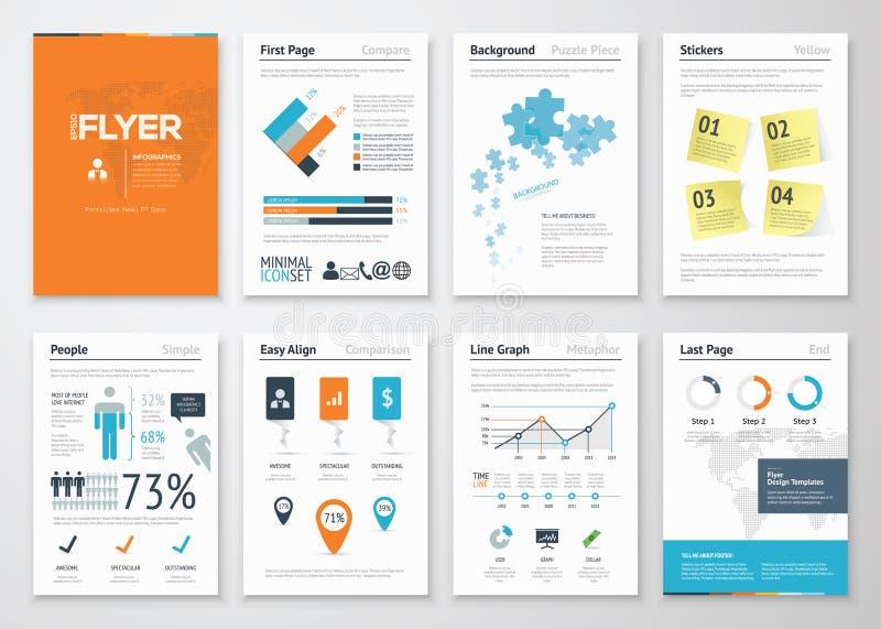 Infographic företags beståndsdelar och vektordesignillustrationer vektor illustrationer