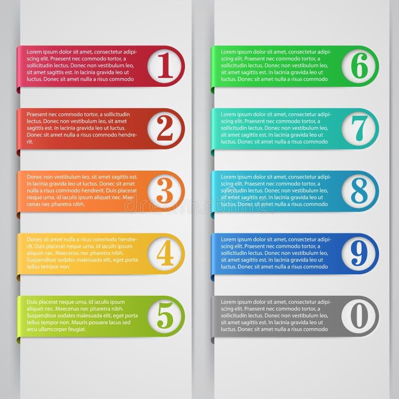 Infographic-Fahne lizenzfreie abbildung