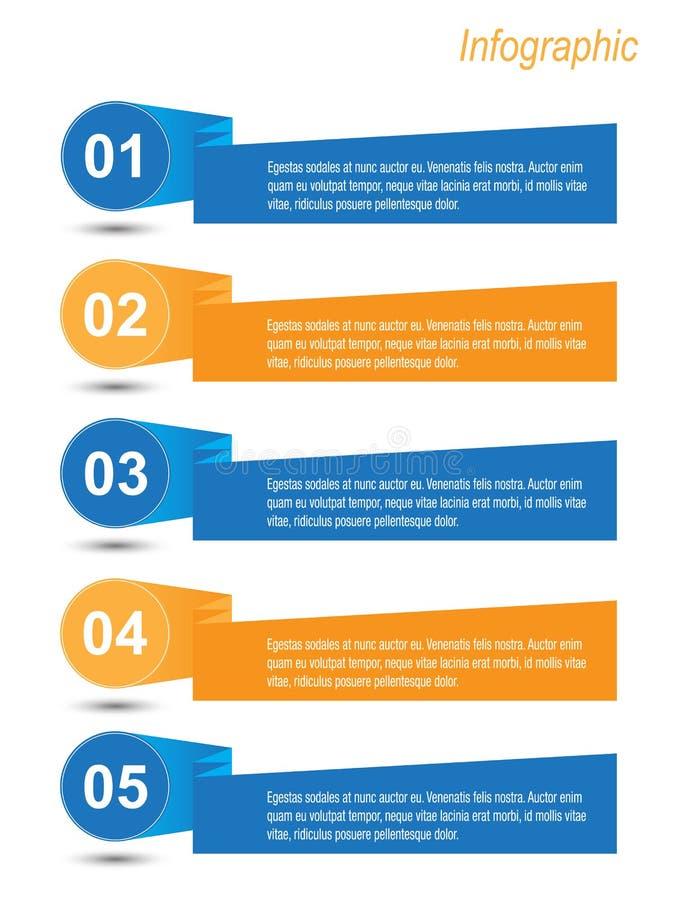 Infographic Fahnen-Auslegungselemente stock abbildung