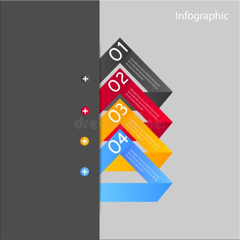 Infographic-Fahnen-Gestaltungselemente stock abbildung