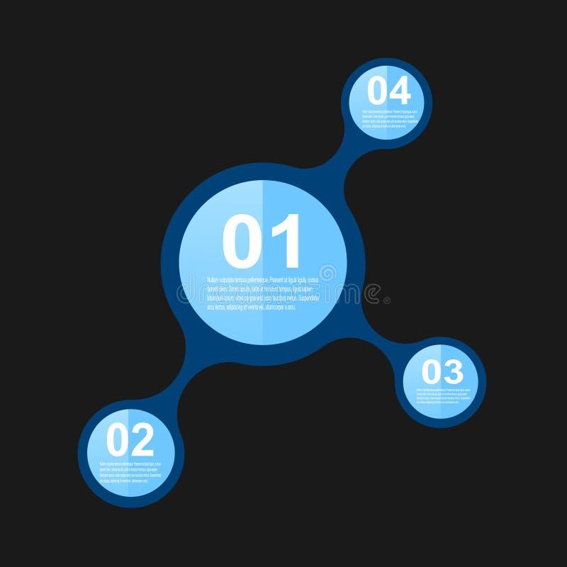 Infographic-Fahnen-Gestaltungselemente vektor abbildung