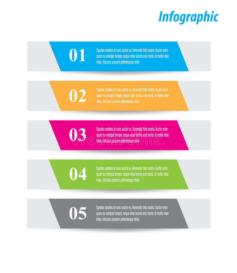 Infographic-Fahnen-Gestaltungselemente lizenzfreie abbildung