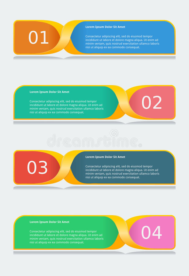 Infographic-Fahnen-Schablone stock abbildung