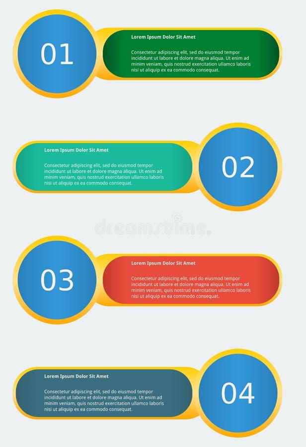 Infographic-Fahnen-Schablone lizenzfreie abbildung