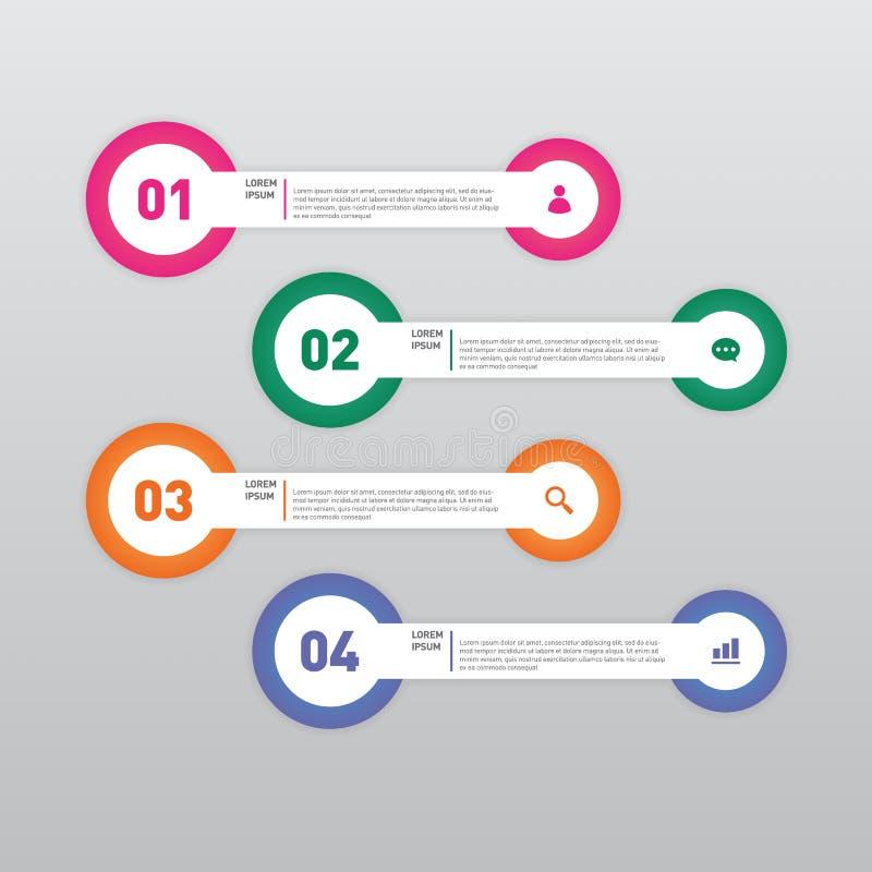 Infographic-Fahnenschablonengestaltungselement-Vektorillustration stock abbildung