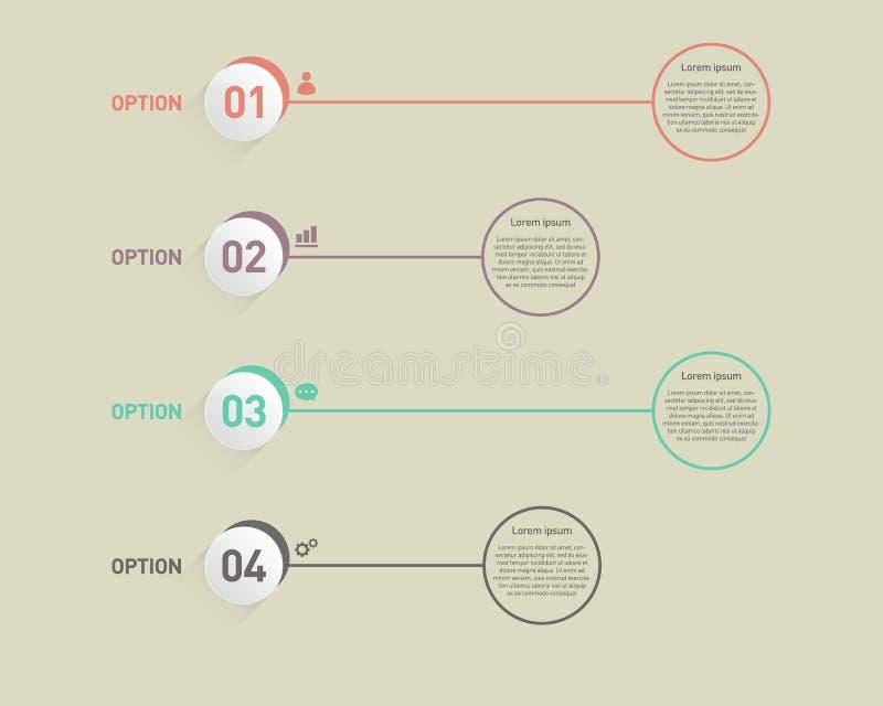Infographic-Fahnenschablonengestaltungselement-Vektorillustration lizenzfreie abbildung
