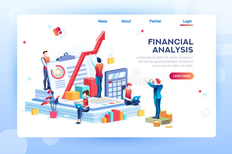 Infographic of Financial Risk Graph vector illustration