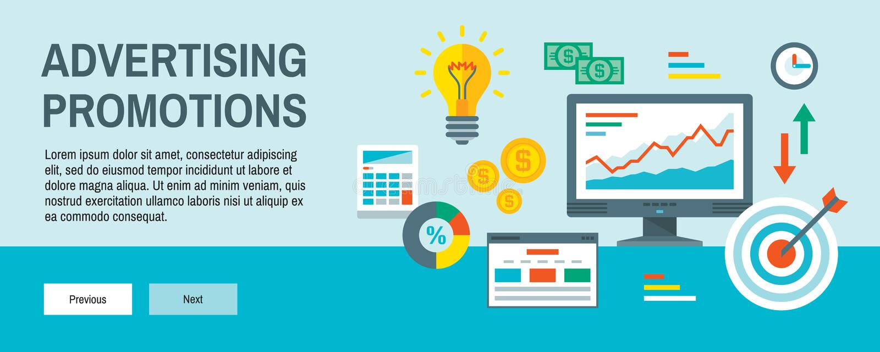 Infographic-Finanzkonzept-Vektorillustration in der flachen Entwurfsart Website Analyticsstatistik Werbung von Förderung horizont lizenzfreie abbildung