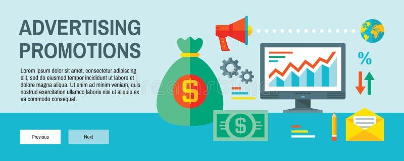 Infographic-Finanzkonzept-Vektorillustration in der flachen Entwurfsart Website Analyticsstatistik Werbungsförderung stock abbildung