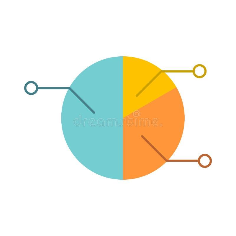 Infographic flache Ikone des Kreisdiagramms lizenzfreie abbildung