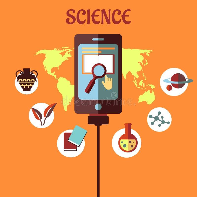 Infographic flaches Design der Wissenschaft lizenzfreie abbildung