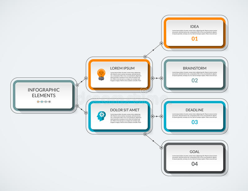 Infographic flow chart vector template royalty free illustration