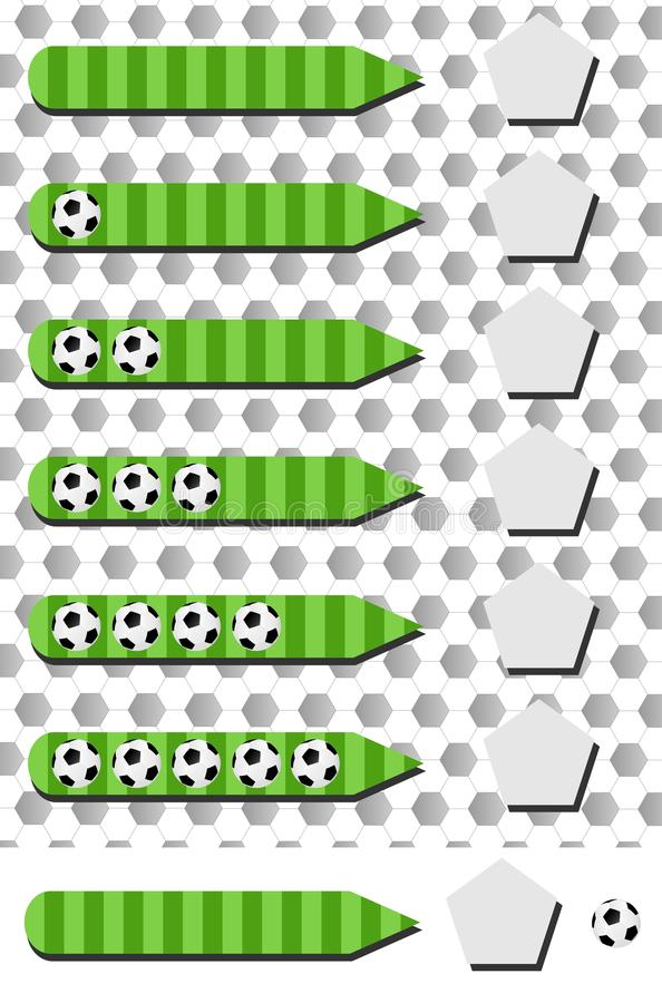 Infographic fotboll stock illustrationer