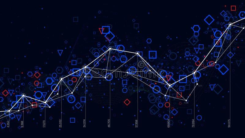 Infographic futuristes abstraits, données de statistiques commerciales grandes représentent graphiquement la visualisation illustration stock